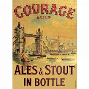 Courage Ales And Stout metal sign 400mm x 300mm  (og)